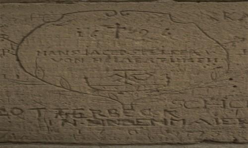 NIEMCY / Badenia Witenbergia / Maulbronn / Maulbronn, klasztor, prawdopodobnie znaki murarskie