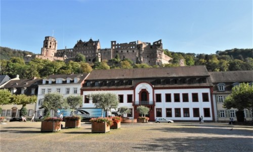 NIEMCY / Badenia Witenbergia / Heidelberg / Heidelberg, widok na zamek