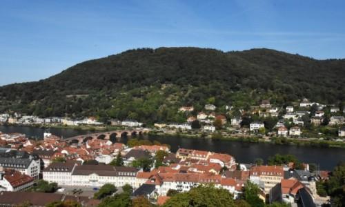 NIEMCY / Badenia Witenbergia / Heidelberg / Heidelberg, widok na Neckar