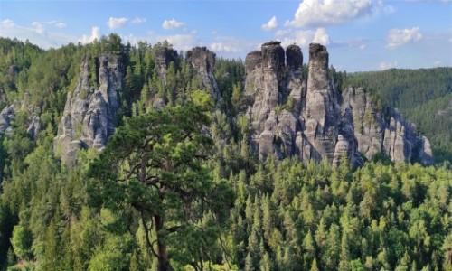 NIEMCY / Saksonia / Bastei / Krajobrazy Gór Połabskich