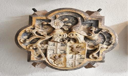 NIEMCY / Badenia Witenbergia / Bruchsal / Bruchsal, Stadtkirche, zabytkowe zwornik, pięknie zdobiony.