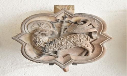 Zdjecie NIEMCY / Badenia Witenbergia / Bruchsal / Bruchsal, Stadtkirche, zabytkowy zwornik, pięknie zdobiony.
