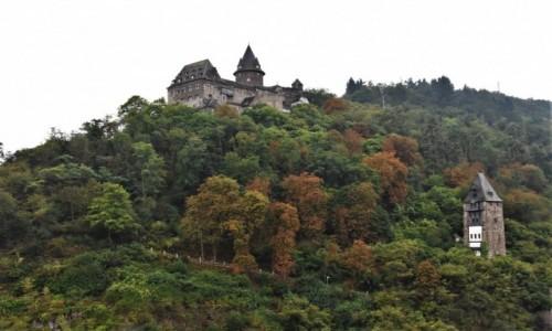 NIEMCY / Dolina Renu / Bacharach / Bacharach, widok na zamek z winnic.