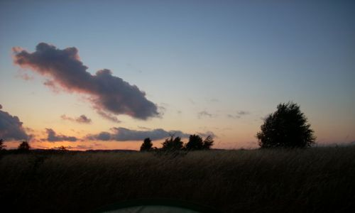 NIEMCY / Rugia / Seedorf / W czasie zachodu słońca.