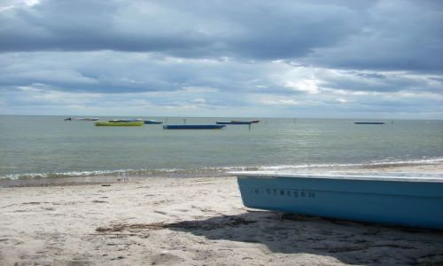 NIEMCY / Rugia / Gross Stresow / Na plaży.