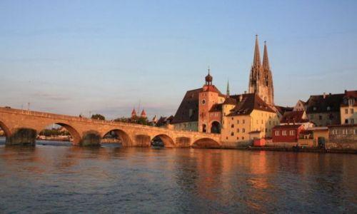 Zdjecie NIEMCY / Bawaria / Ratyzbona / Regensburg / Most Kamienny na Dunaju z I.pol. XIIw.