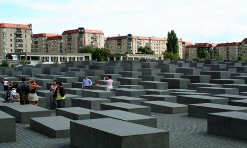 NIEMCY / Brandenburgia / Berlin / Pomnik Ofiar Holokaustu