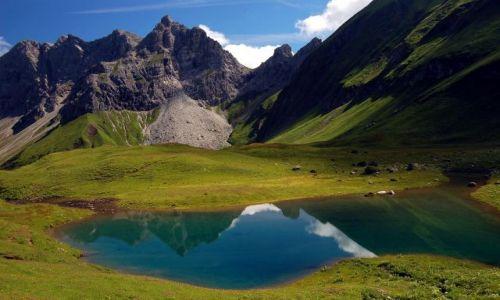 NIEMCY / Bawaria / Alpy Allgawskie, jeziorko Eissee. / Enklawa spokoju...