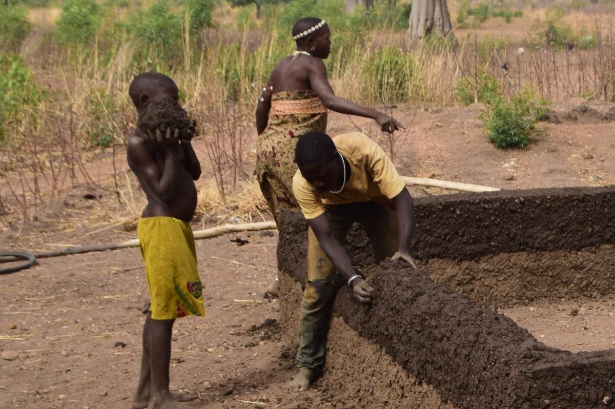 Zdjęcia: Dosso, Niger południowy, Budując dom, NIGER