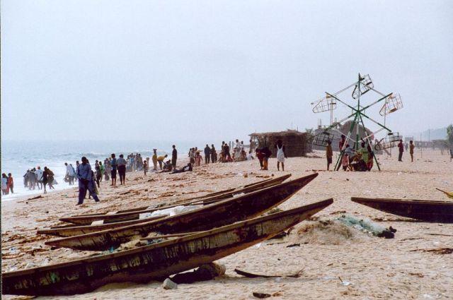 Zdjęcia: Okolice Lagos, Tłum na plaży, NIGERIA