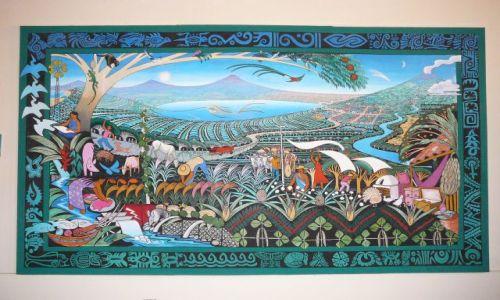 NIKARAGUA / Masaya /  Park Narodowy / Malunek na ścianie