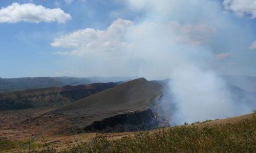 NIKARAGUA / Masaya /  Park Narodowy / dymy z wulkanu