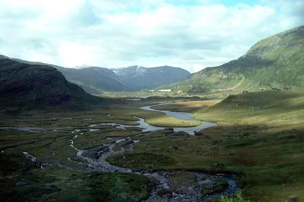 Zdjęcia: miedzy Bergen a Flam, dolina polodowcowa, NORWEGIA