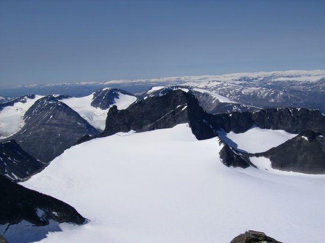 Zdjęcia: Galdhopiggen, Widok z szczytu, NORWEGIA