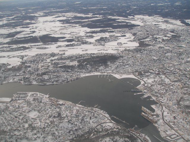 Zdjęcia: Sandefiord, Widok z samolotu, NORWEGIA