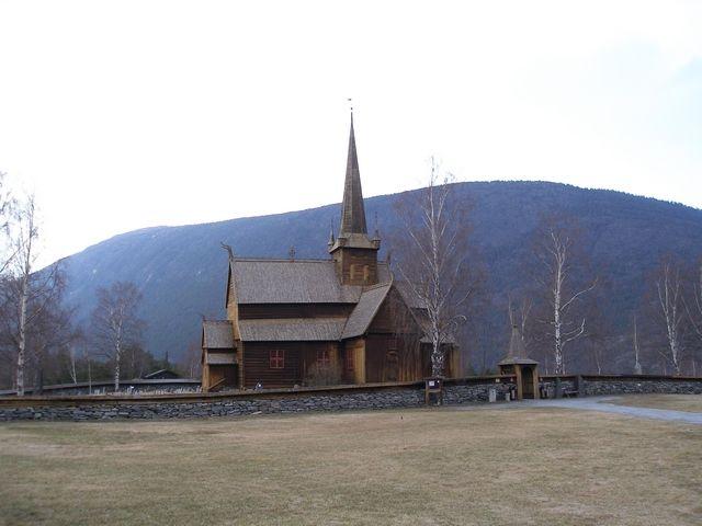 Zdjęcia: Trasa Bergen-Dombas, Kościół, NORWEGIA