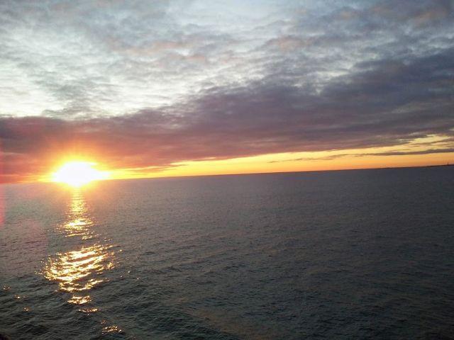 Zdjęcia: Dania-Norwegia, Dania-Norwegia, Zachód słońca na promie Stena Saga, NORWEGIA