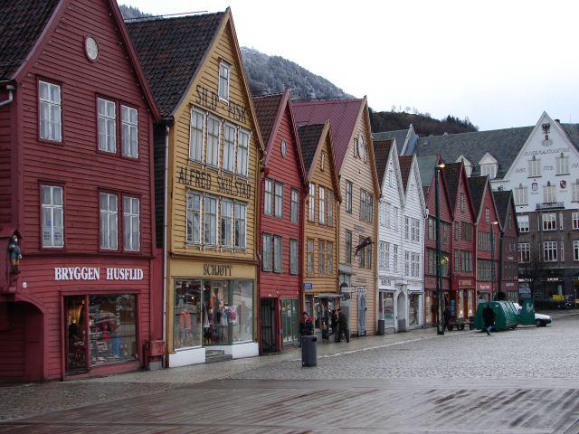 Zdjęcia: Bergen, Południowo - Zachodnia Norwegia, Domki w Bergen, NORWEGIA