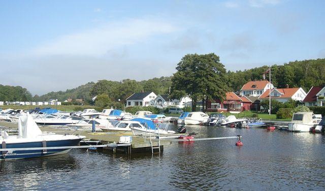 Zdjęcia: Helgeroa, Larwik, Malutka marina, NORWEGIA