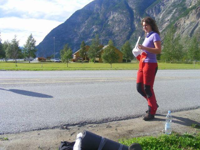 Zdjęcia: Przed wjazdem do   Ardal, Przed wjazdem do Ardal , Autostopem po Norwegii? Czemu nie! , NORWEGIA