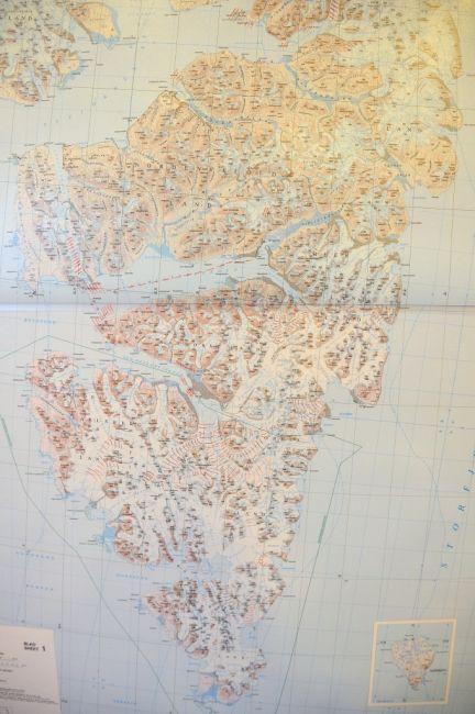 Zdjęcia: Spitsbergen - Norwegia, Svalbard, Mapa, NORWEGIA