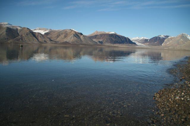 Zdj�cia: Dolina Ebby, Svalbard, Cisza przed Chatka, NORWEGIA
