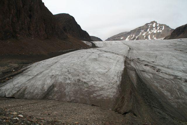 Zdjęcia: Czoło lodowca Sfen, Svalbard, Czoło lodowca czy autrostrada, NORWEGIA
