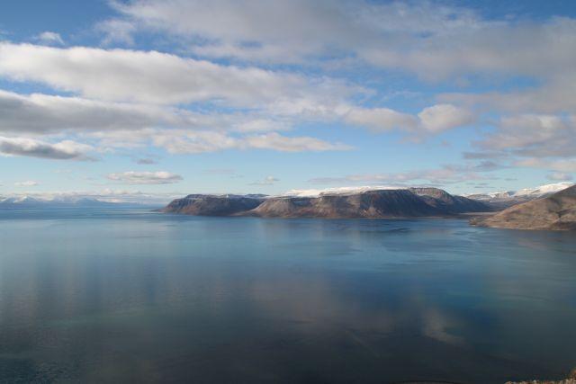 Zdjęcia: Widok z Vordiego na Istfiord, Svalbard, Kolory Svalbardu, NORWEGIA