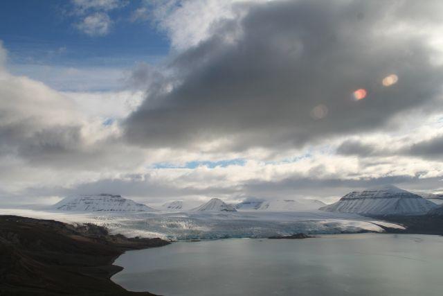 Zdjęcia: Widok z Vordiego na Skansbukte, Svalbard, Kolory Svalbardu, NORWEGIA