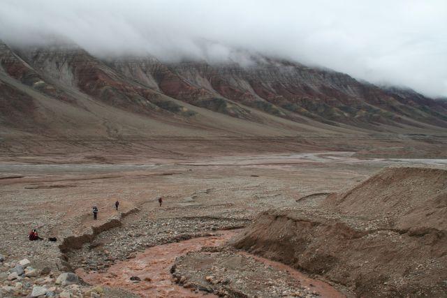 Zdjęcia: Trojkolorowa gora, Svalbard, Trojkolorowa góra, NORWEGIA