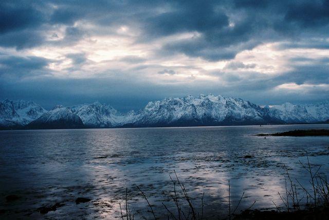 Zdjęcia: Fiord na Północny-Zachód od Narwiku, Północny Nordland, NORWESKI WIDOCZEK, NORWEGIA