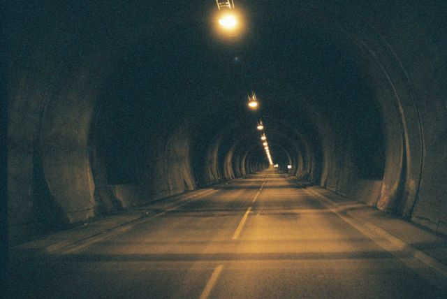 Zdj�cia: Tunel na Nordkapp, Morza Barentsa, W tunelu na Nordkapp, NORWEGIA