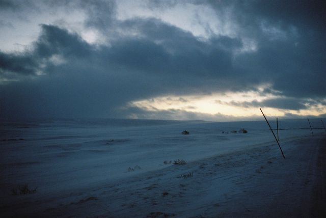 Zdjęcia: Jadąc na Berlevag, VARANGER HALVOYA, ZIMOWE PUSTKOWIE, NORWEGIA