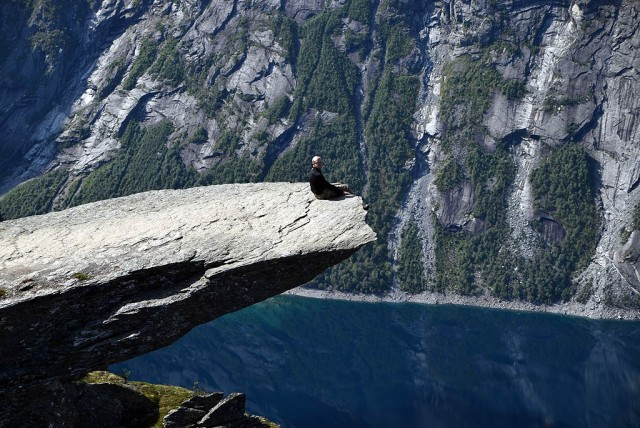 Zdjęcia: Trolltunga, Hordaland, Trolltunga, NORWEGIA