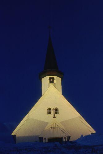 Zdjęcia: BERLEVAG, FINNMARK, KOŚCIÓŁ W BERLEVAG, NORWEGIA