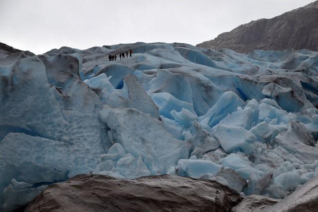 Zdjęcia: Nigardsbreen, Sogn og Fjordane, lodowiec Nigardsbreen z bliska, NORWEGIA