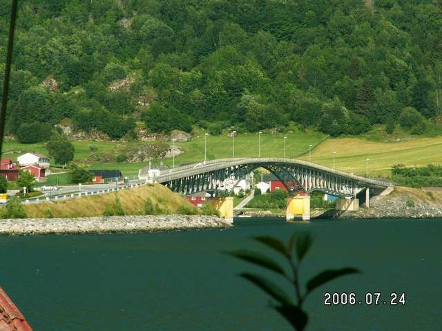 Zdjęcia: Sogndal, Most w Sogndal, NORWEGIA