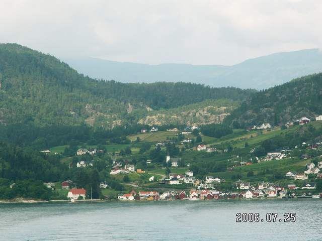 Zdjęcia: Solvorn, Widok na Solvorn, NORWEGIA