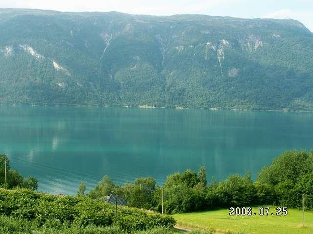 Zdjęcia: Urnes, Widok na Lusterfiord, NORWEGIA