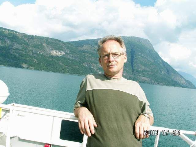 Zdjęcia: Urnes, Autor na promie pomiędzy Urnes a Solvorn, NORWEGIA