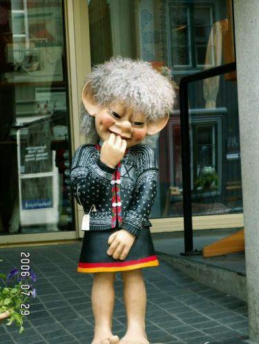 Zdjęcia: Lillehammer, dziewczyna trolla, NORWEGIA