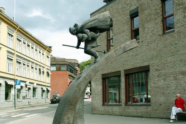 Zdjęcia: Lillehammer, Narciarz, NORWEGIA