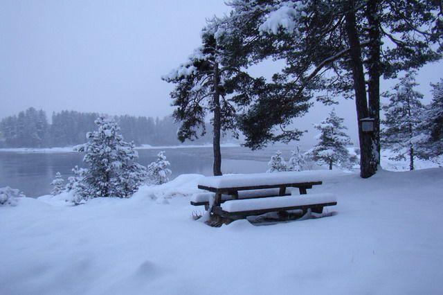 Zdjęcia: ok 40 km od stolicy, zima, NORWEGIA
