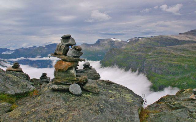 Zdjęcia: Góra DALSNIBBA 1500mnpm, GERIANGER, Zostanie w pamięci, NORWEGIA