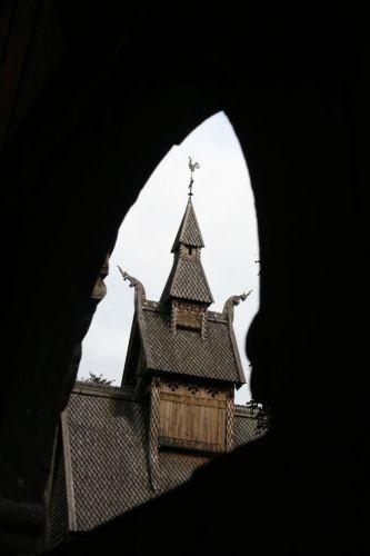 Zdjęcia: Miejscowość VIK Drewniany kościół :STAVKIRKE: z XII w., Kościółk 2, NORWEGIA
