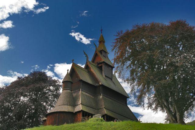 Zdjęcia: Miejscowość VIK Drewniany kościół :STAVKIRKE: z XII w., Kościółek 3, NORWEGIA