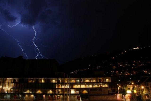 Zdjęcia: Bergen, Hordaland, Sierpniowa burza, NORWEGIA