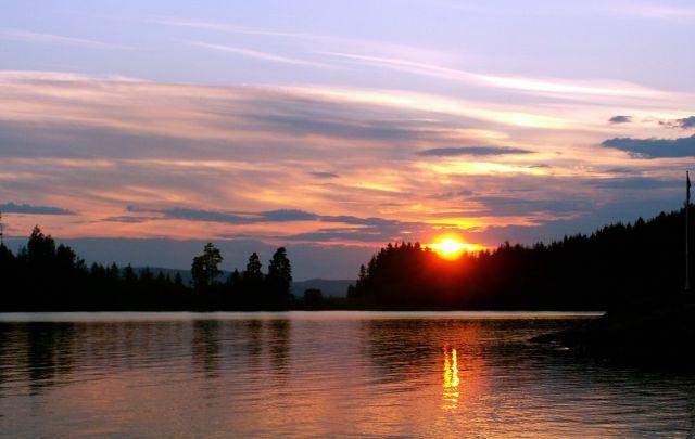Zdjęcia: Gansvika, Skandynawia, Zachód słońca 07, NORWEGIA