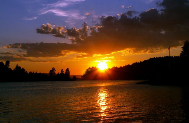 Zdjęcia: Gansvika, Skandynawia, Zachód słońca 08, NORWEGIA