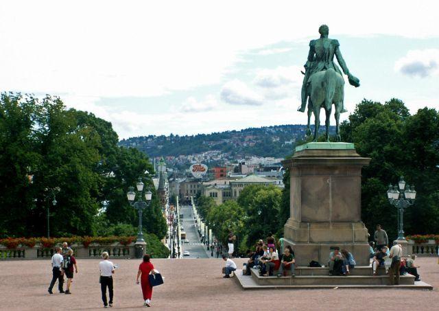 Zdjęcia: Oslo, Skandynawia, Widok spod pałacu królewskiego, NORWEGIA